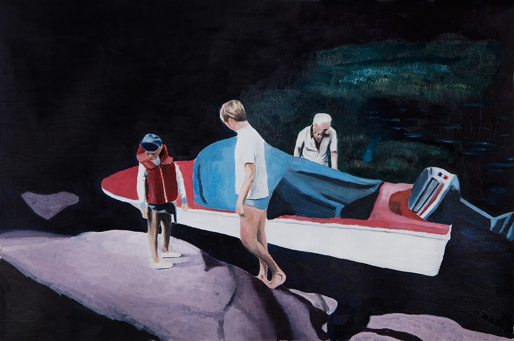 2018, Melankoli 1989 40x60cm, Oil on Canvas