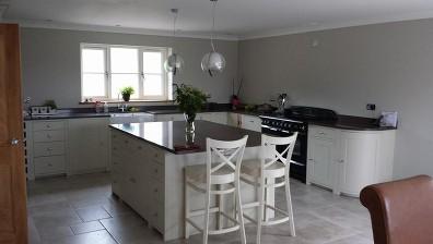 New build property in Llandewi, Mid Wales.