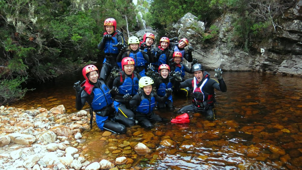 Family half-day canyoning tour at Cradle Mountain