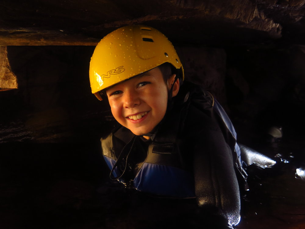 Canyoning adventure for children