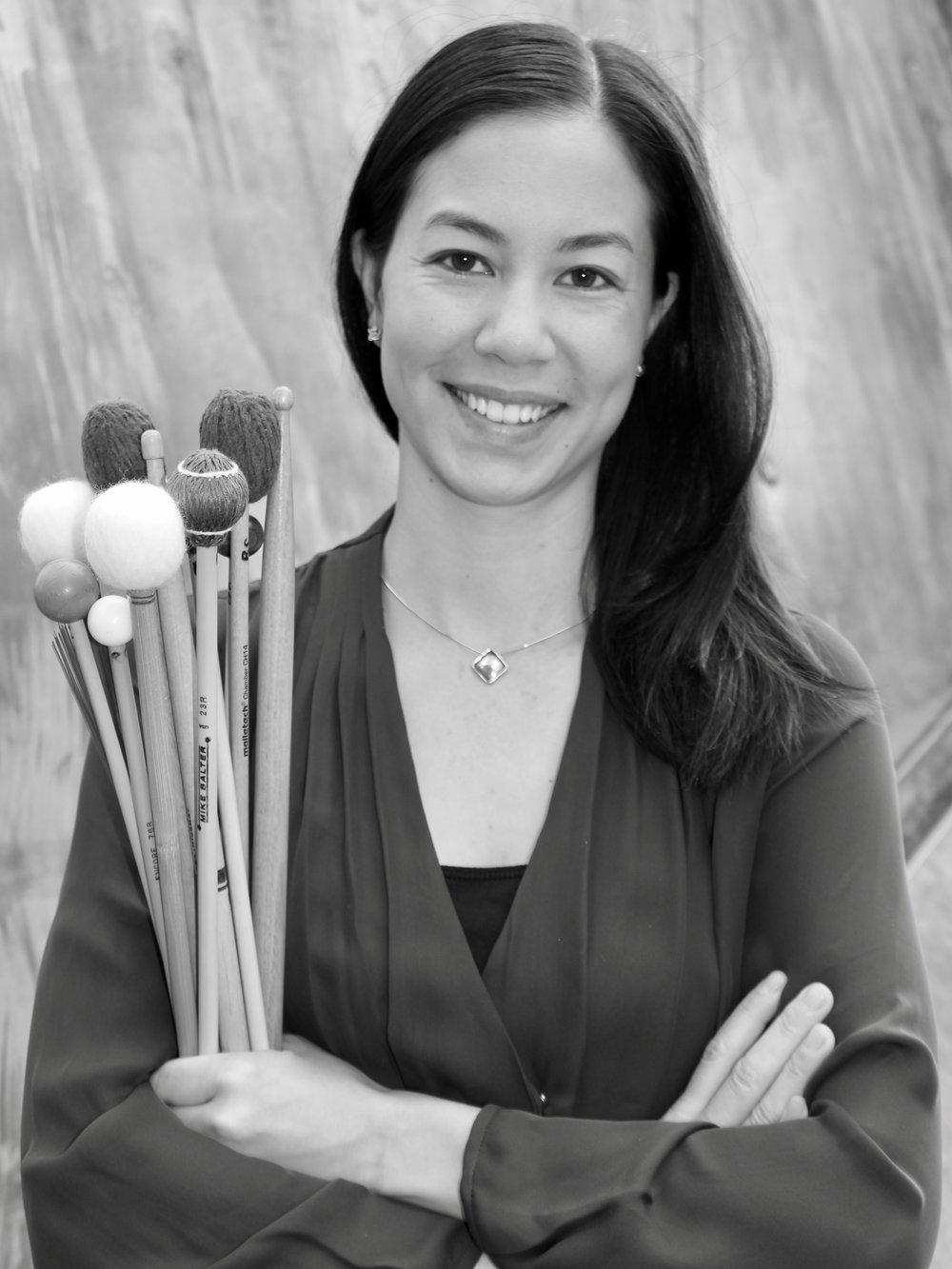 Rebecca the percussionist