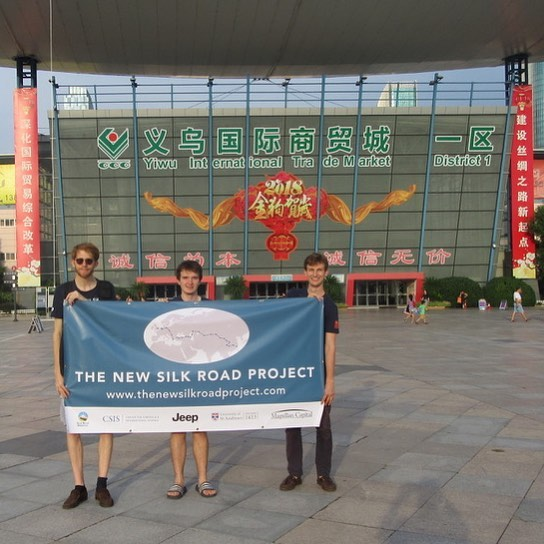 Day 62. After a packed two months involving 10,000 miles, over 70 meetings and two dozen site visits across the Silk Road Economic Belt we have arrived in Yiwu! We are humbled with the immense support received from both dozens of individuals particularly Wade Shepard, Peter Frankopan and Chris Devonshire-Ellis as well as our supporters. Stay tuned for more to come! @csis @jeep @fca_group @uniofstandrews @magellancapital @dezanshira @zerosixzeromap