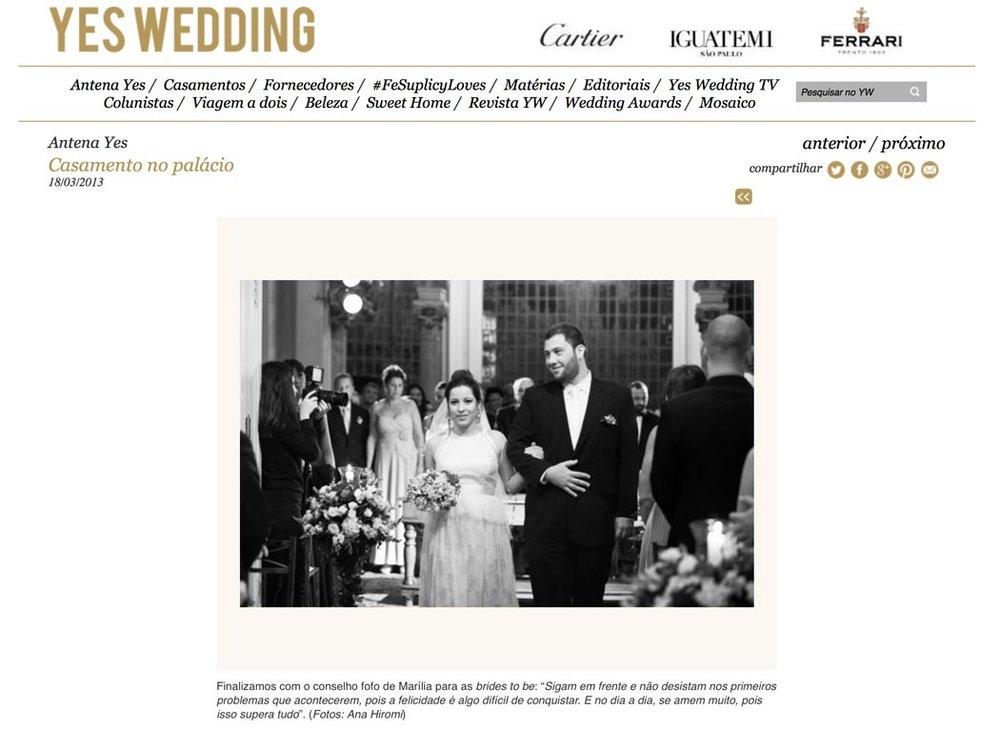 YES WEDDING - O casamento no Palácio dos Cedros de Marília e Alberto