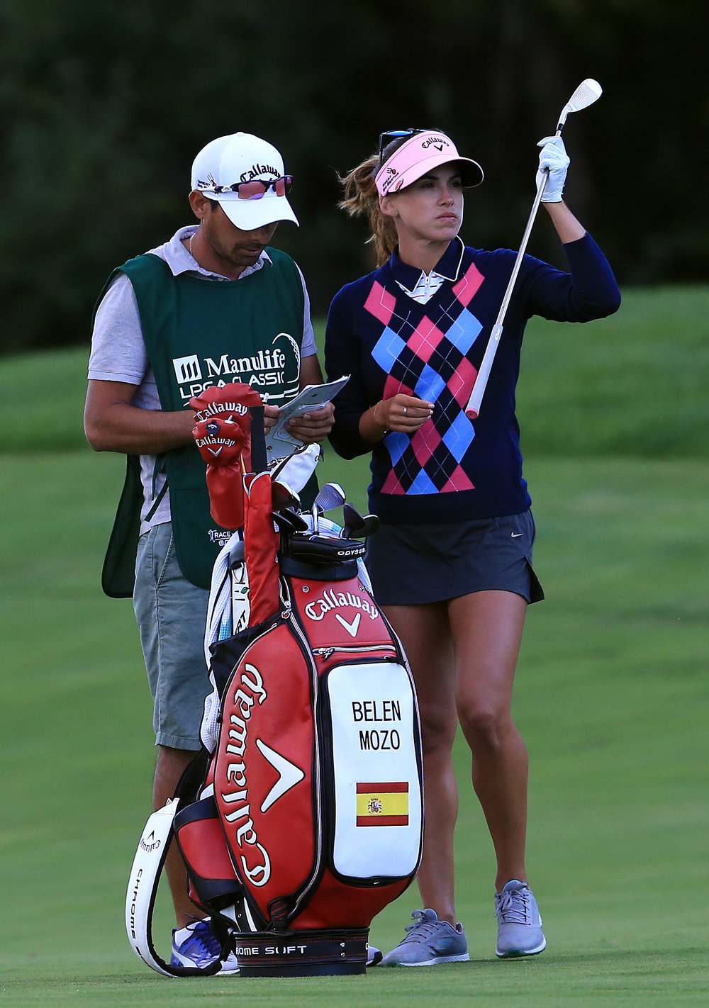 Belen with former caddie Leo Burgos (Argentina) last year in Manulife Championship, Waterloo Canada.