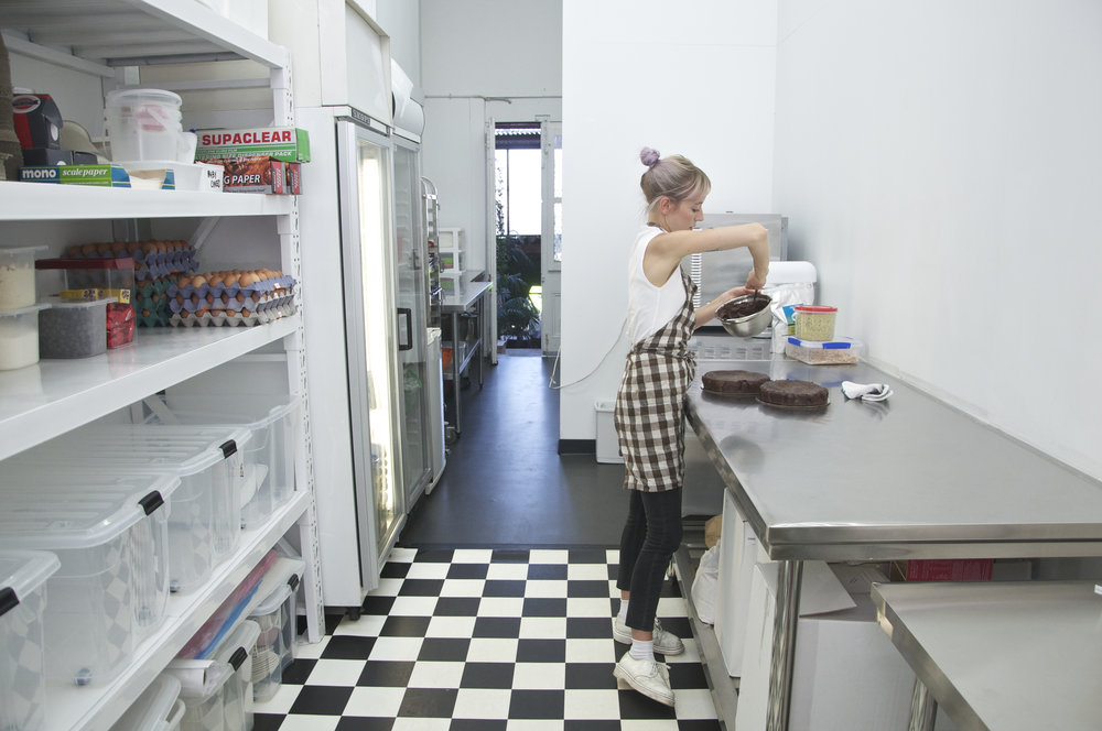 jordan rondel baking cake kitchen