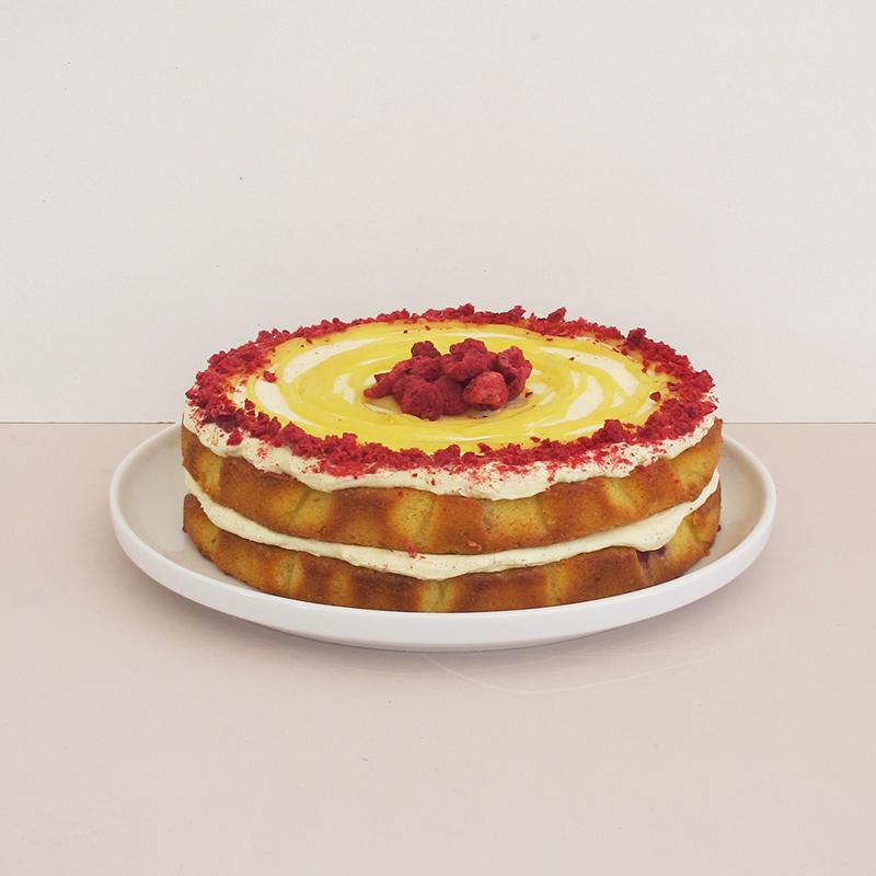 Lemon Raspberry Cake The Caker