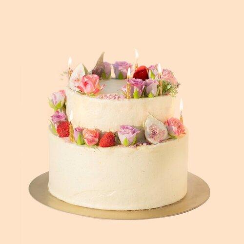VEGAN TWO TIERED CAKE