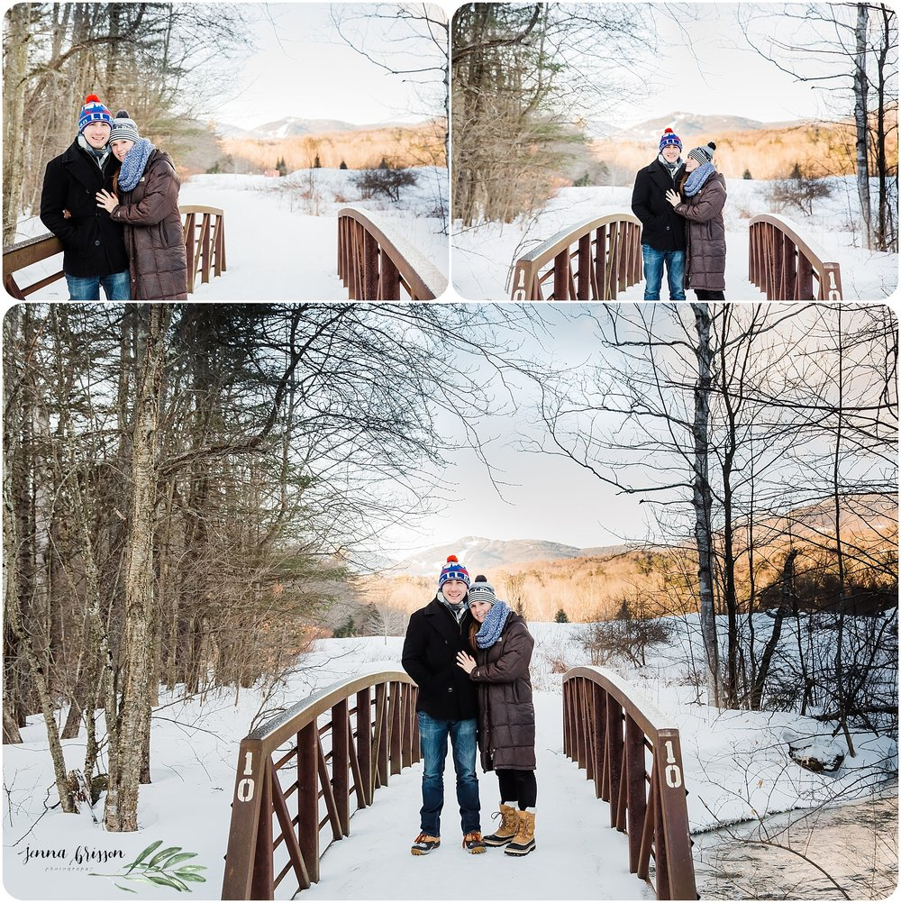 Winter Proposal Session in Stowe, Vermont