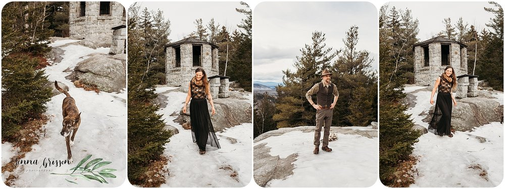 Vermont Mountain Elopement First Look
