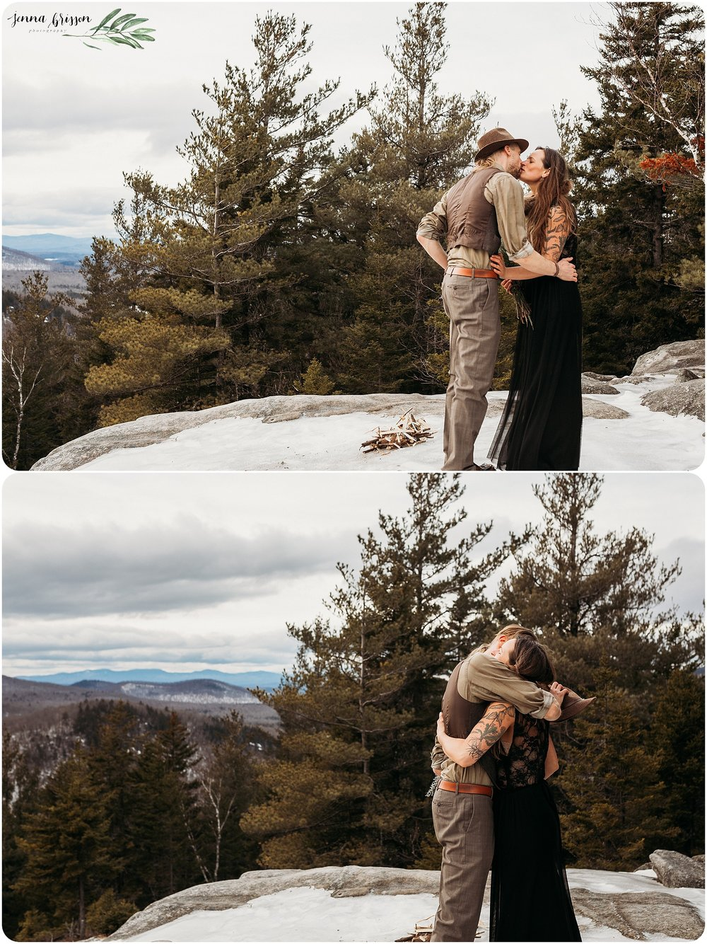 Adventure Wedding Mountains of Vermont
