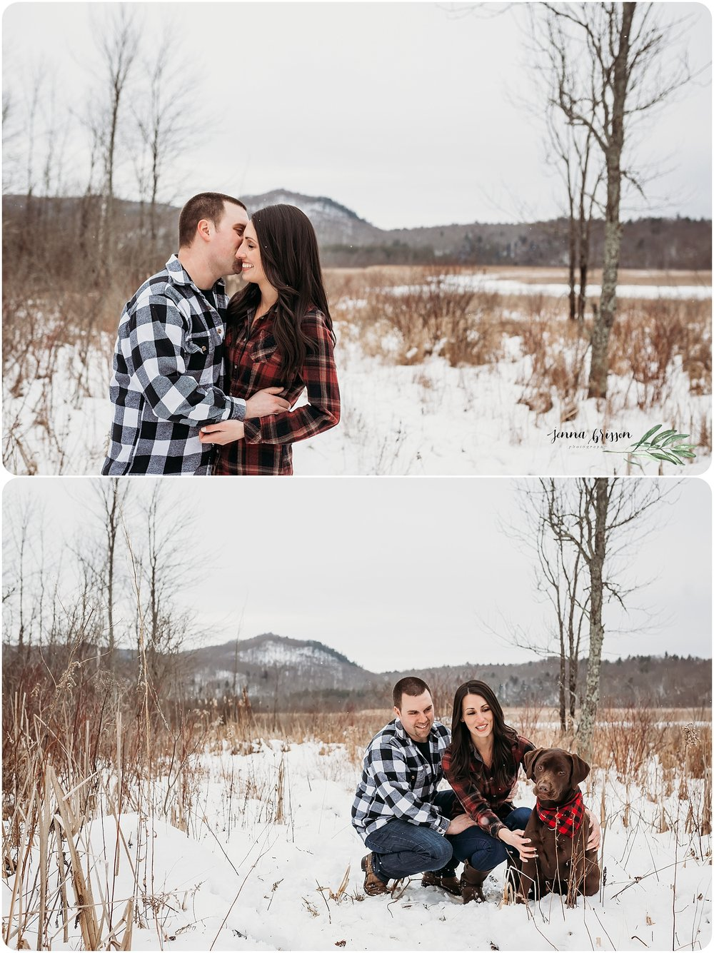 Winter Engagement Session Vermont