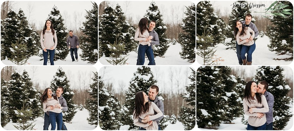 Vermont Winter Engagement Photos Candid