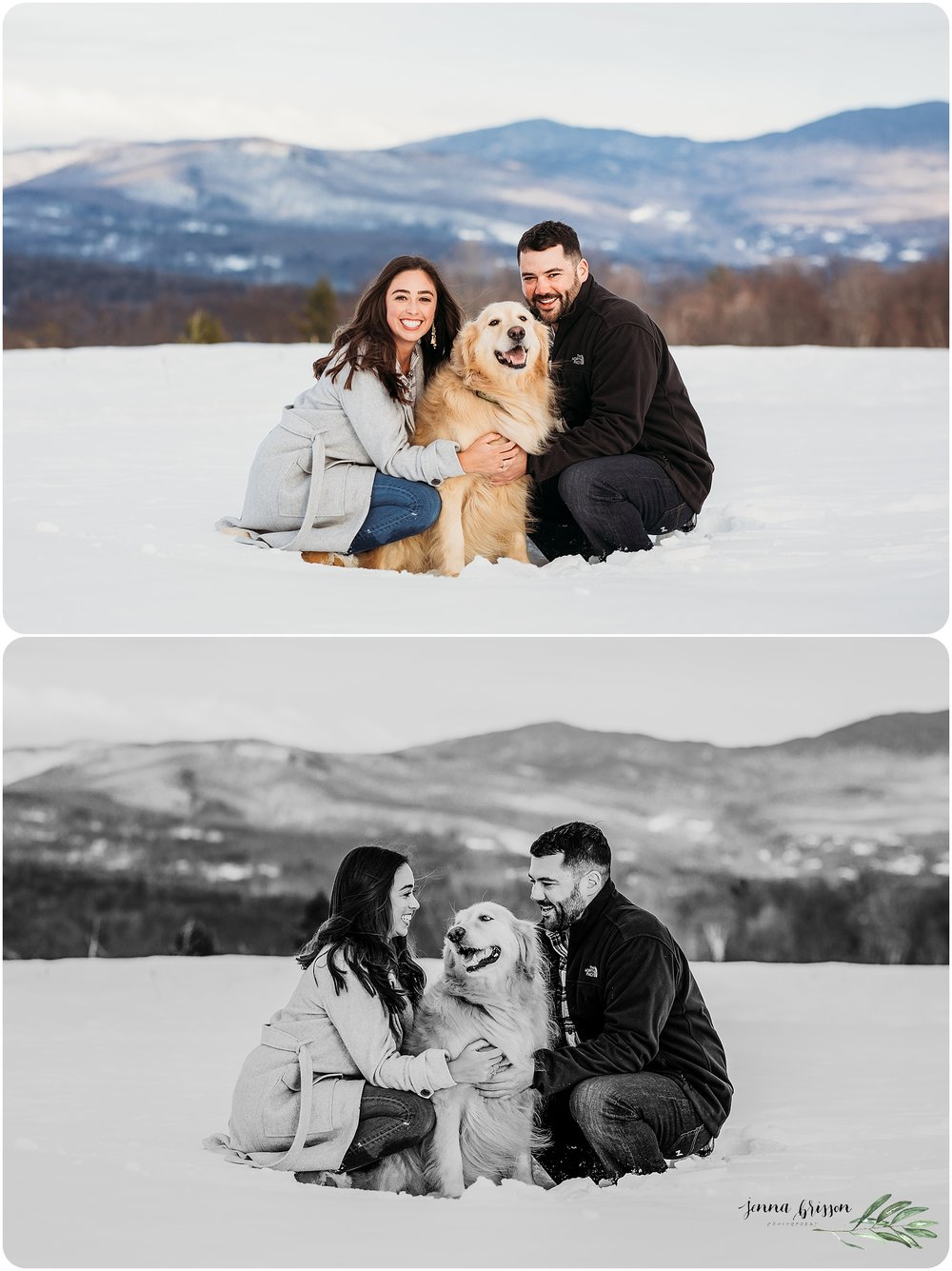 Couples Session with Pet Vermont