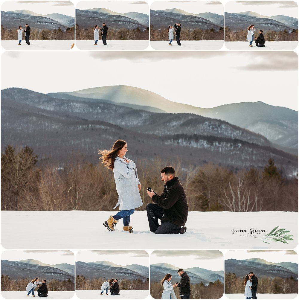 Surprise Proposal Photography Session Engagement Session Vermont Trapp Family Lodge - Jenna Brisson Photography - Romantic Vermont Proposal