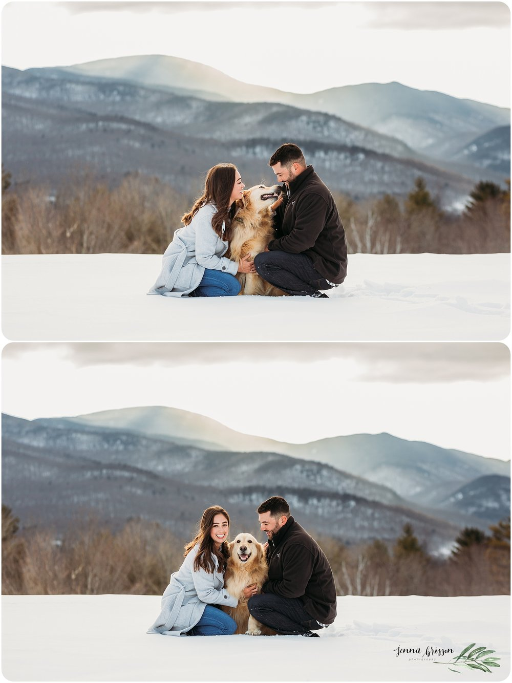 Family Photography Session with Dog Vermont Jenna Brisson Photography