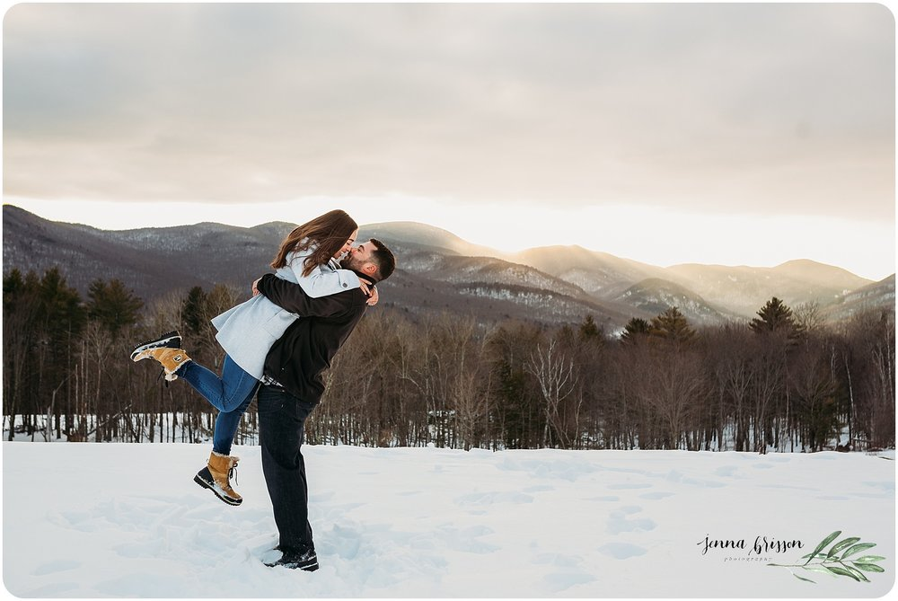 Mountain Engagement Session Vermont