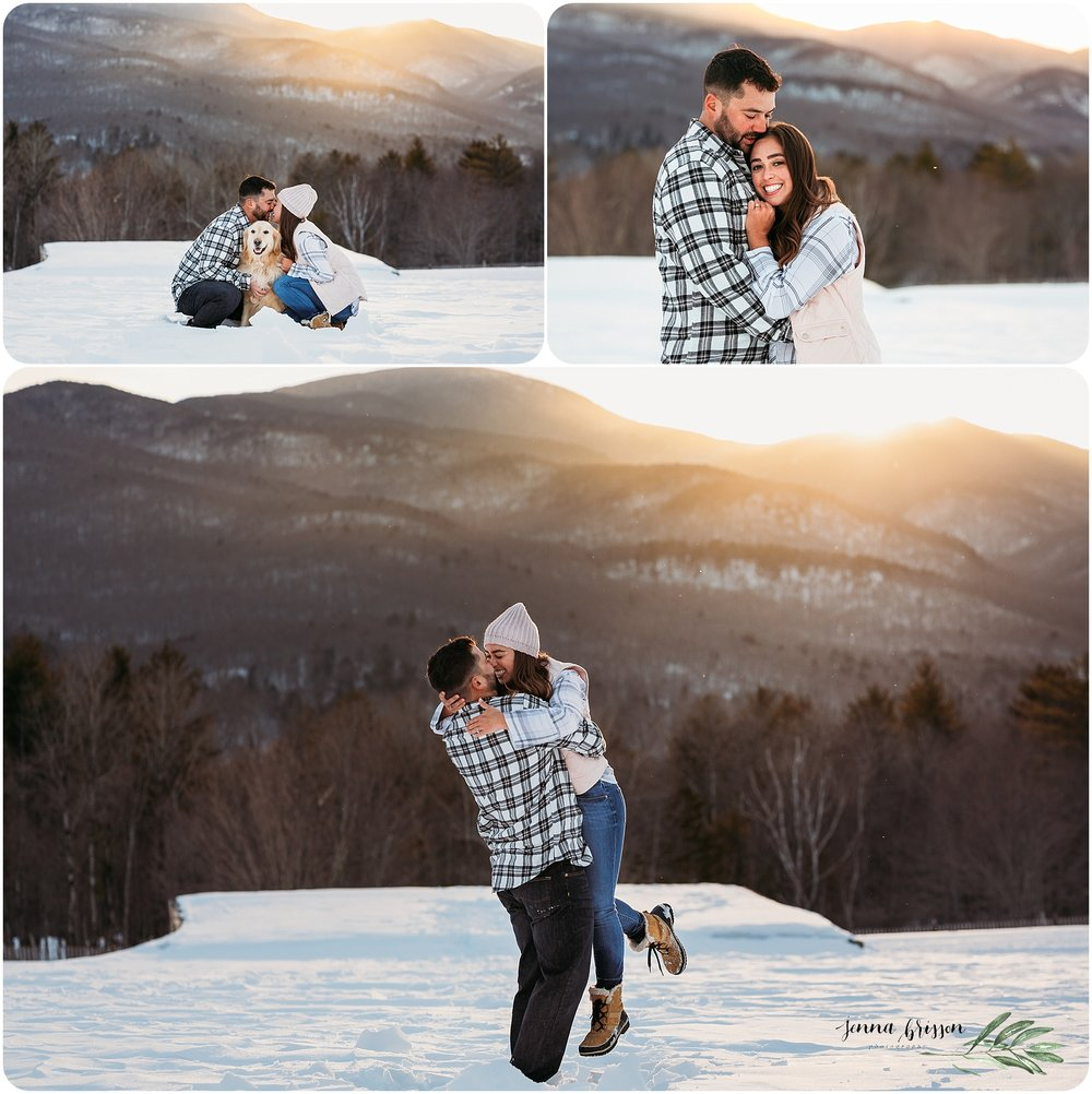Golden Hour Winter Couple Photography Session - New England Wedding Photographer - Jenna Brisson Photography
