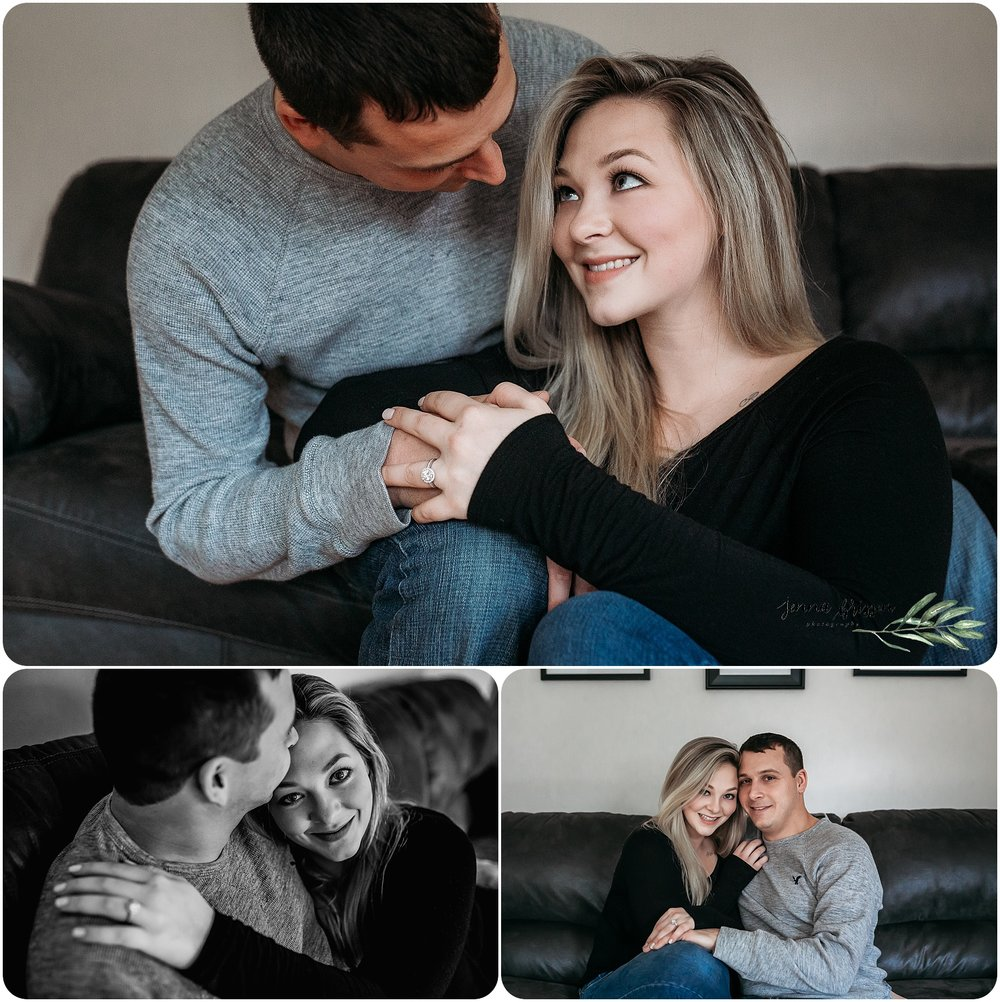 In Home Engagement Session - Burlington, Vermont - Jenna Brisson Photography