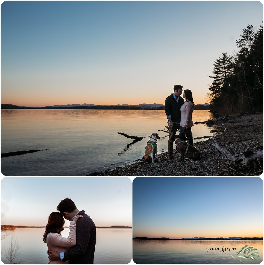 Burlington Vermont Engagement Sunset Photography - Jenna Brisson Photography