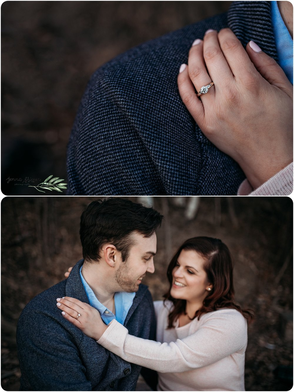 Burlington Vermont Engagement  Session Sunset - Red Rocks Park
