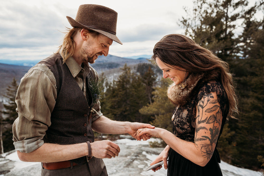 An Intimate Vermont Elopement - Owl's Head, Groton