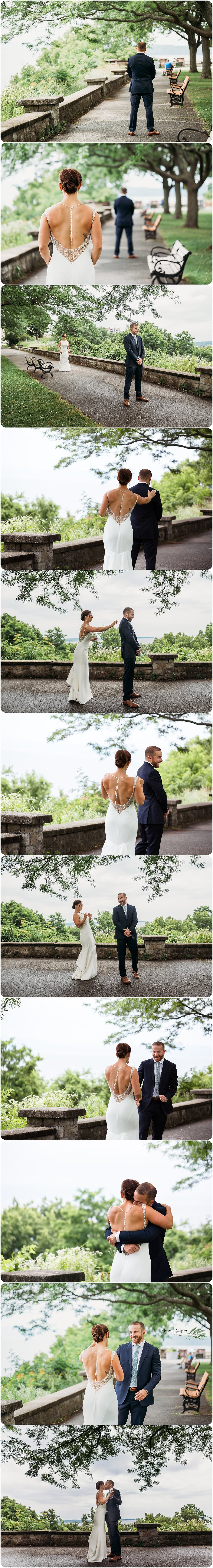 Wedding First Look - Burlington Vermont Wedding Photography