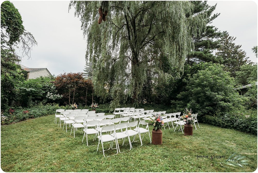 Burlington Vermont Backyard Wedding