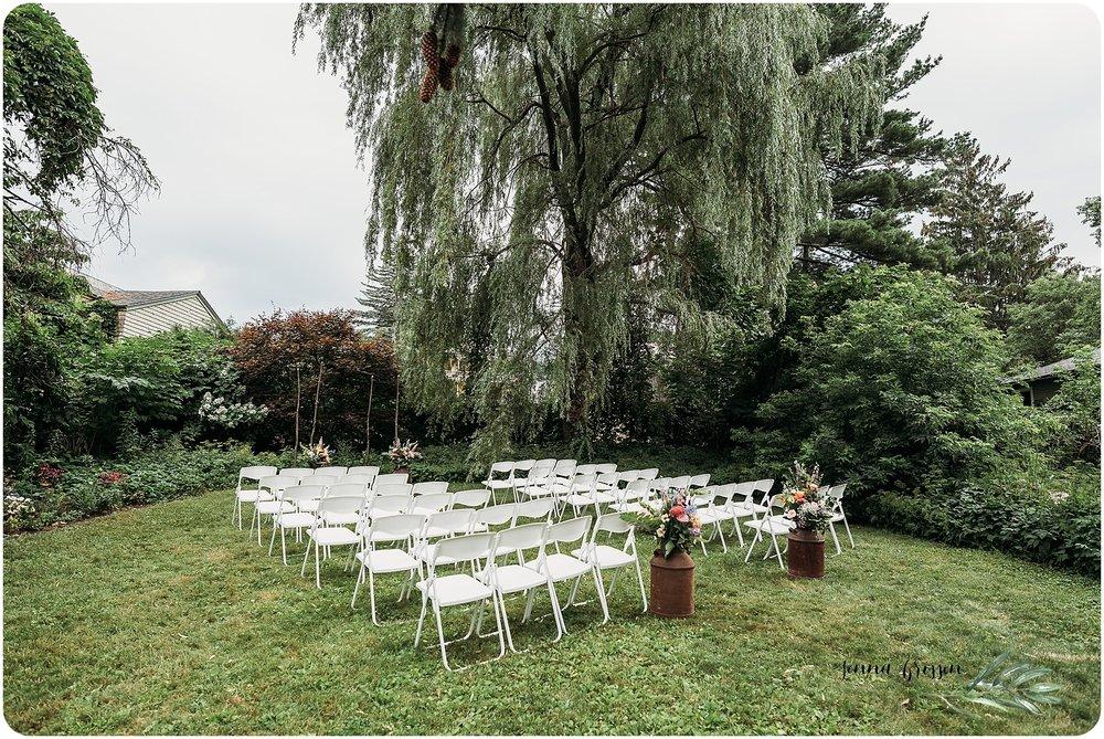 Burlington Vermont Backyard Wedding