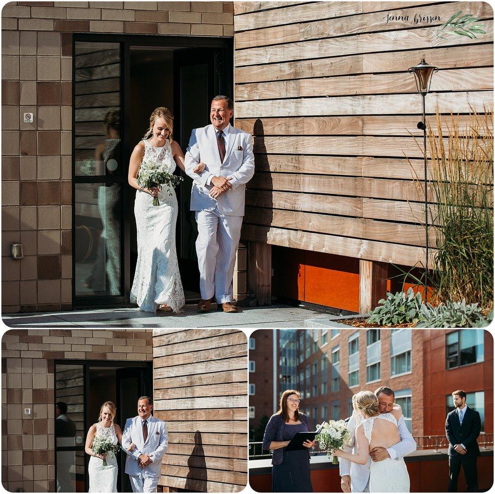 Hotel Vermont Wedding Ceremony Burlington Vermont