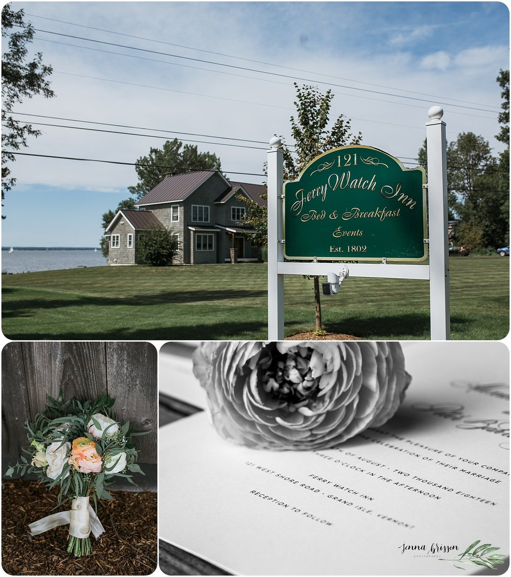 Vermont Wedding Photography at The Ferry Watch Inn, Vermont
