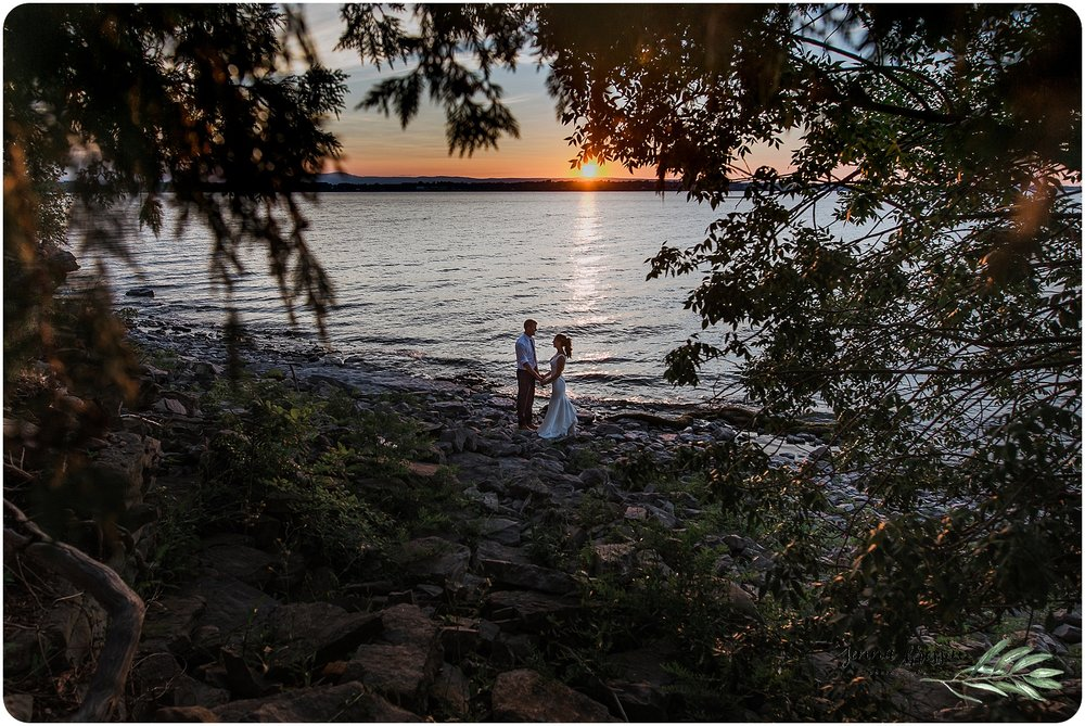 Vermont Sunset Wedding Ferry Watch Inn - Jenna Brisson Photography