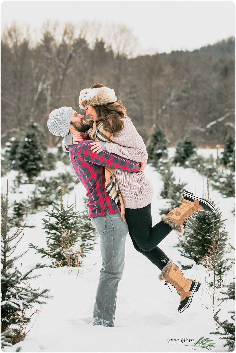 Romantic Winter Photo Vermont