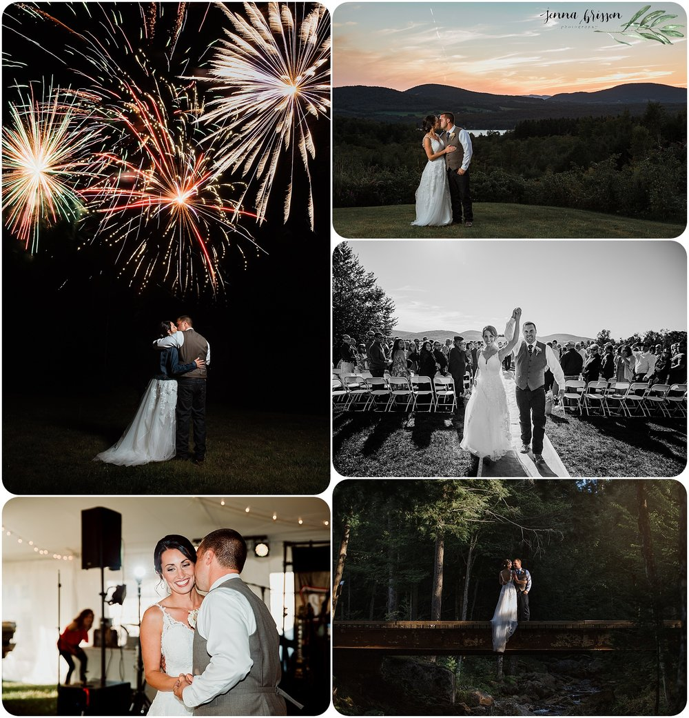 Vermont summer wedding photography