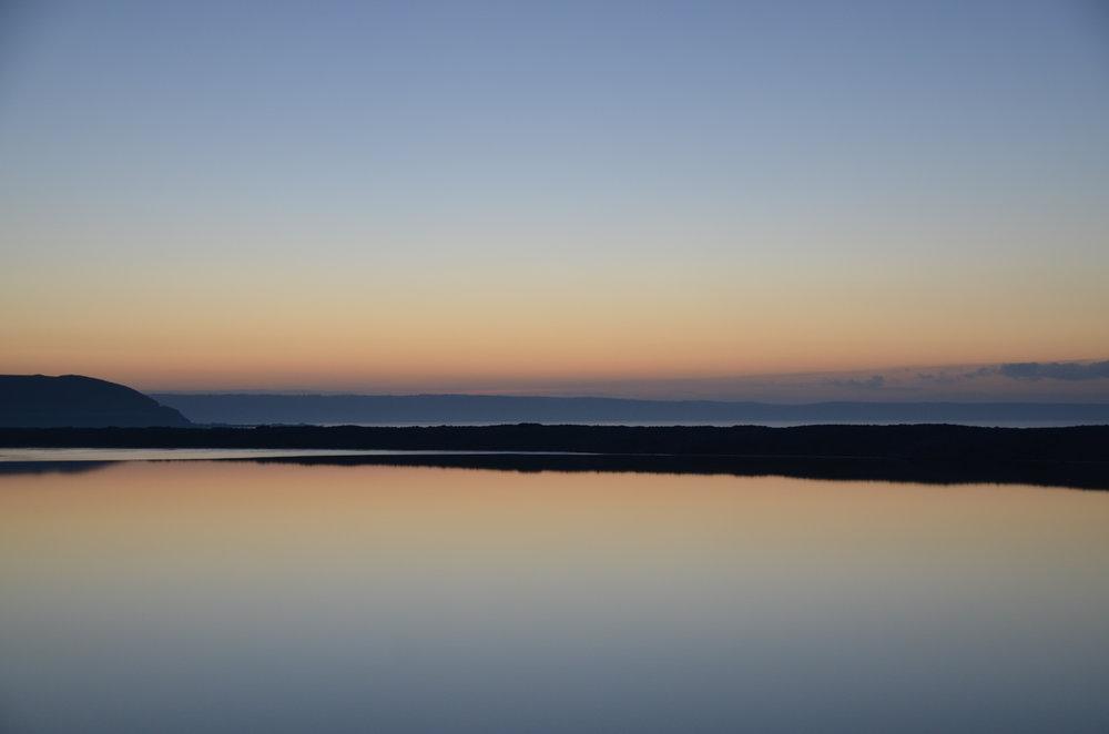 Sunset over the North Devon Coastline