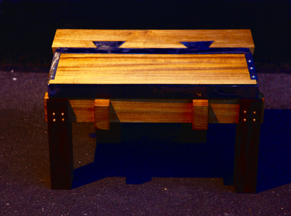 Metal Dovetail Joint Coffee Table