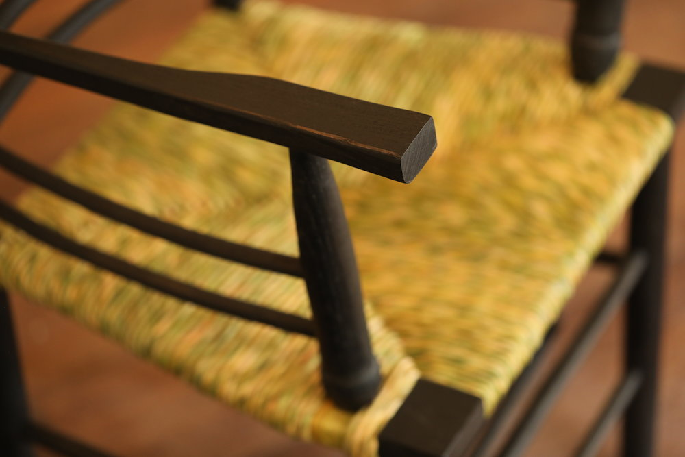 Sussex Chair Completed - Arm detail