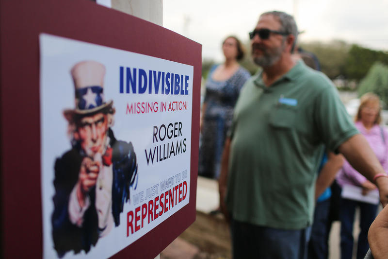 To Pressure Elected Officials, 'Indivisible' Activists Consult Tea Party Playbook