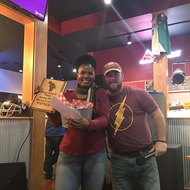 And the winner is.....congratulations Toya Javonne!! Last night was big fun. See everyone this Thursday for the first summer Karaoke Night! . . #karaoke  #campbellsville  #goodtimes
