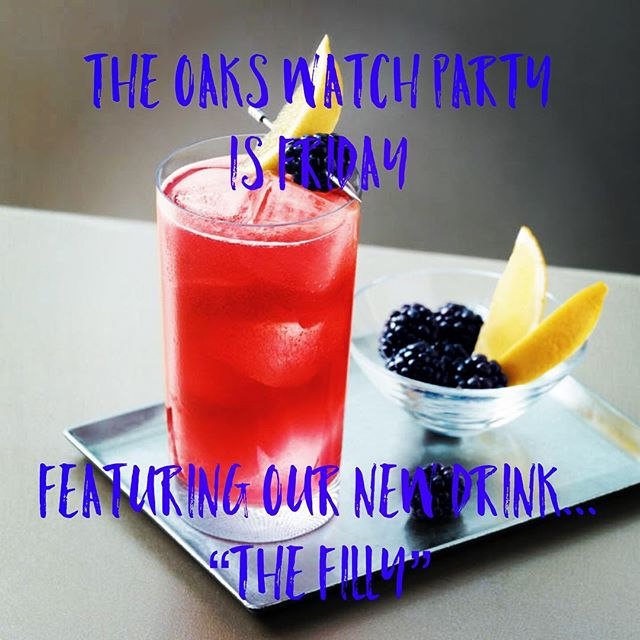 """The Kentucky Oaks watch party is Friday!  The races will be on all day.  Come out and try our new drink for the Oaks.... """"The Filly""""....rhymes with. Well you can figure it out! We will have drawings for prizes, our normal menu and lots of fun!  See you Friday. . . #kentuckyoaks  #pinkdrink  #goodeats #campbellsville"""
