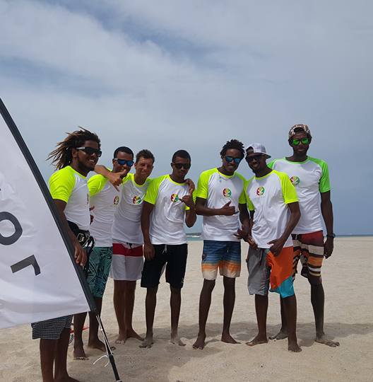 The KiteKriol Team   The only kitesurfing school on Boavista operated 100% by the locals!  We love their spirit and are grateful for their support towards our project. The Kite Downwind finish line is right in front of their Center as well. When you participate in the Downwind these are the guys to talk to for great downwind sessions around the Island.