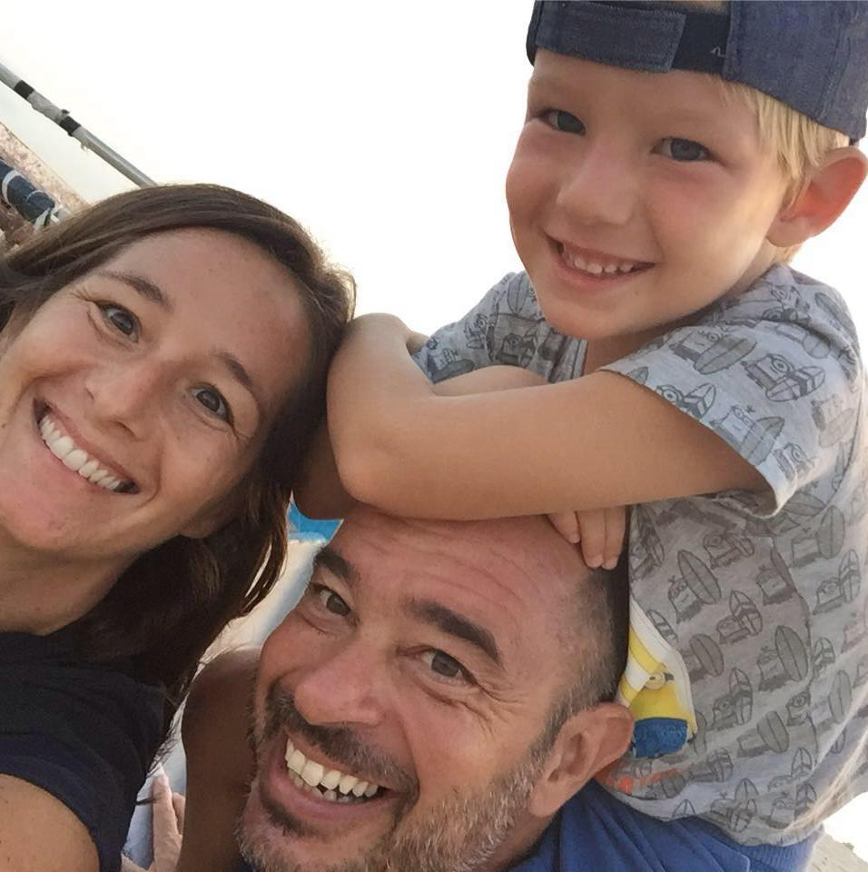 Francesco Lazzari and his Family   Not only do they run the  beautiful Hotel Ca Nicola  which is right on the Beach of Estoril, but also a great support at our first Kite Downwind in 2017. We are grateful for these wonderful people in helping us with our initiative.