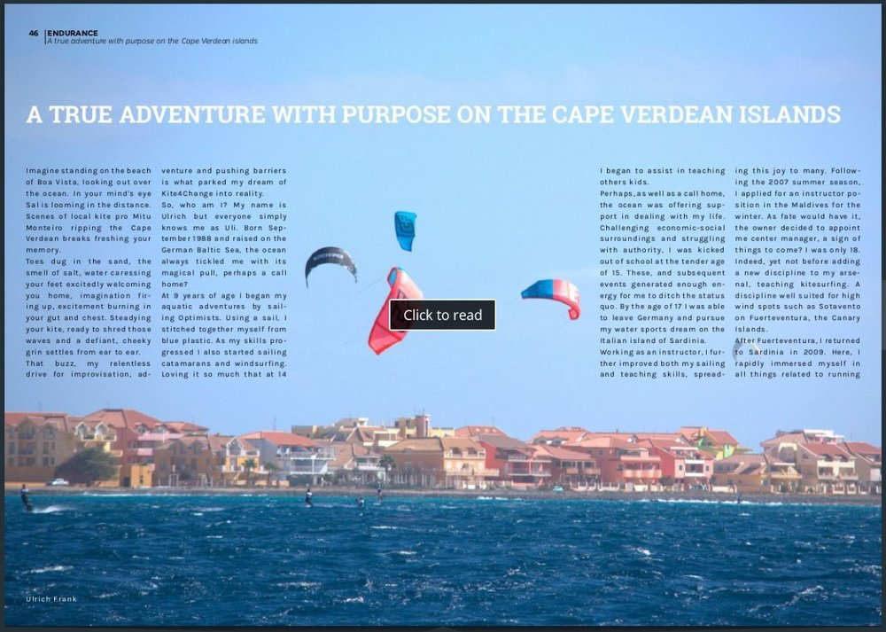 KITESOUL MAGAZINE   A Story about the founder of the KiteDownwind Ulrich Frank