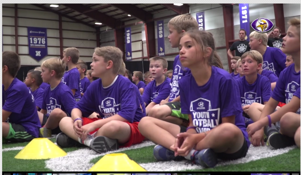 Click to see  video from the Annual Free Football Camp sponsored by Hyundai  →