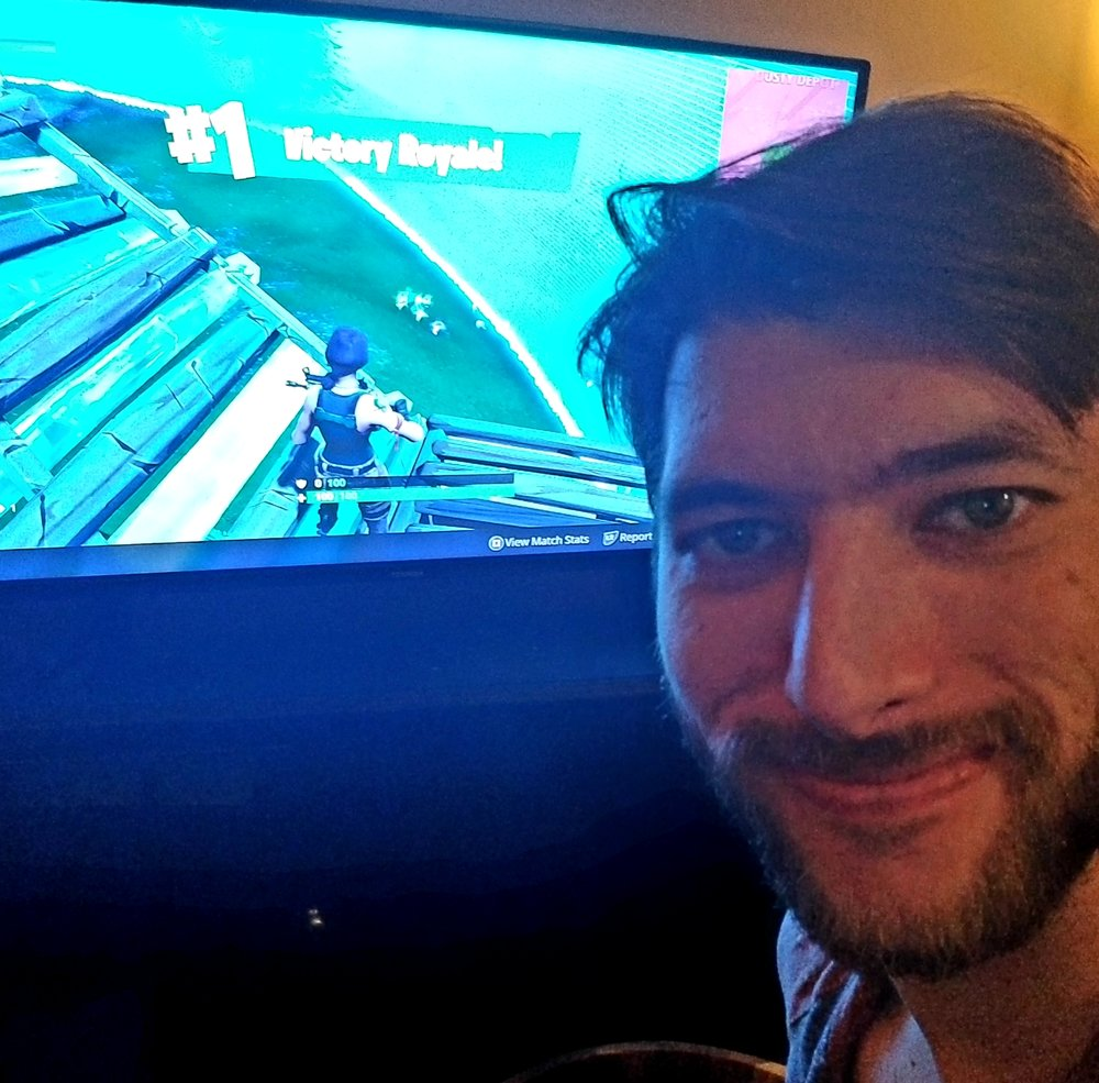 - Yep... That's my proud Fortnite Victory Royale selfie.