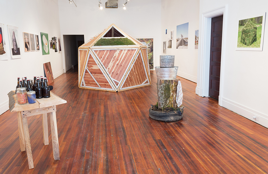 Installation view of  Possible Futures  at Sediment Arts in Richmond