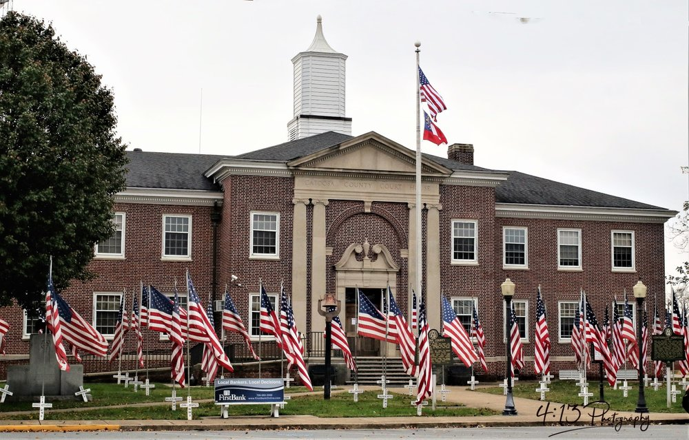 Courthouse flags in Ringgold