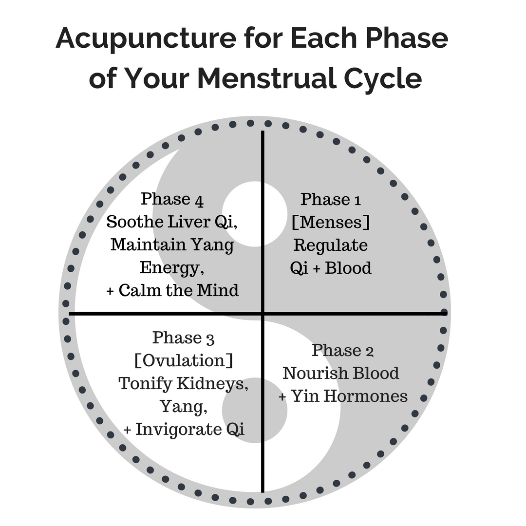 Acupuncture For Each Phase Of Your Menstrual Cycle | Acupuncture - Victoria  BC — Inner Pass Acupuncture