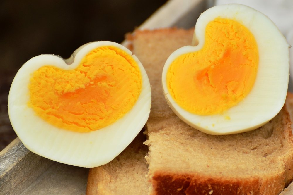Hard-Boiled Eggs - Satiety from: fiber + fatPairs well with: fruit + vegetables + crackers/chips