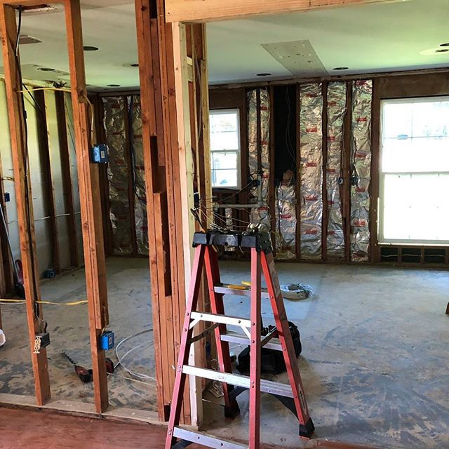 Kitchen remodel in process. #demolition#interiordesign#kitchendesign#projectinprogress#1stconstructionstep#batonrouge  #cabellcooperdesign
