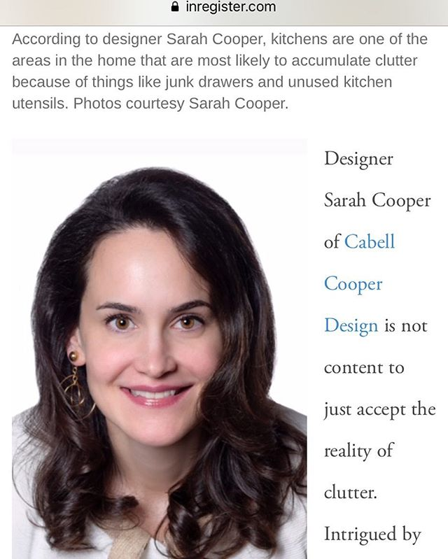 Thanks @inregister for the feature. Cabell Cooper Design offers decluttering & organizing services as well. #declutteryourlife#declutteryourmind #declutteryourhome#declutterthandesign#organization#lifestyle#lifebasics